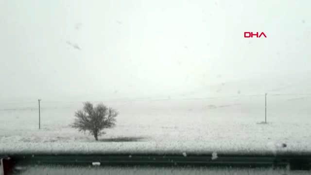 Antalya elmalı'da kar yağışı