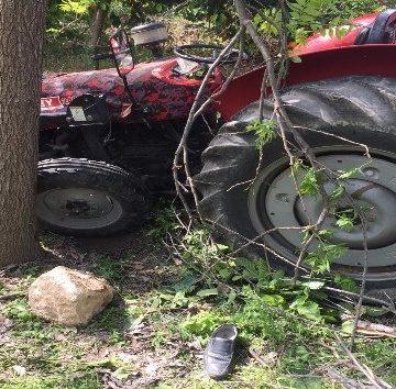 Traktörden düşen sürücü yaralandı