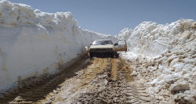 Antalya'da kar kalınlığı 4,5 metreyi bulan yolların açılması çalışmaları