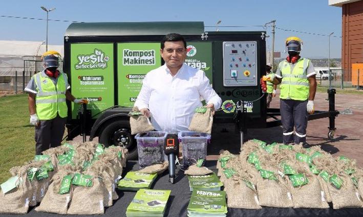 Kepez Belediyesi sera bitki atığını işleyerek organik gübre üretiyor
