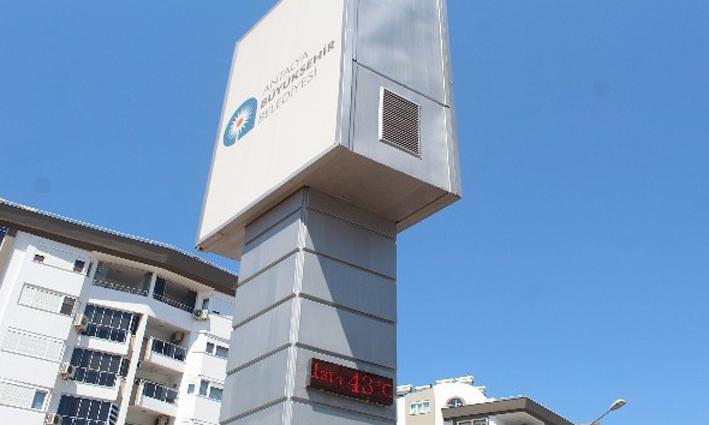 Antalya'da kavurucu sıcak. Termometreler 43 dereceyi gösterdi