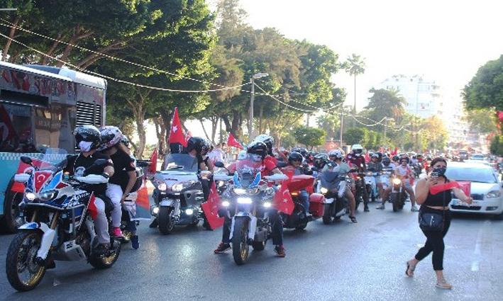 Antalya'da 30 Ağustos Zafer Bayramı korteji