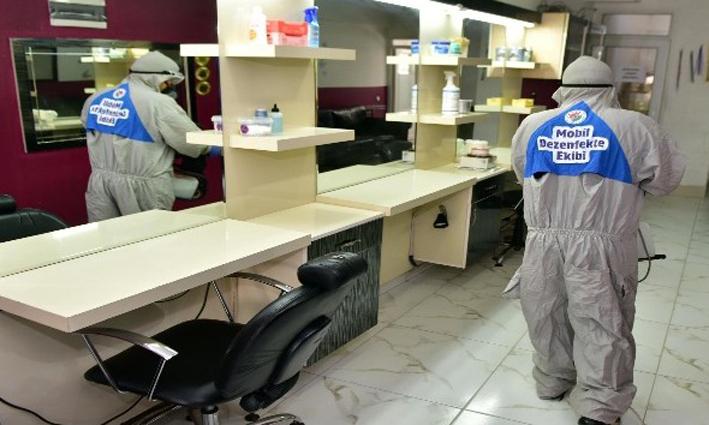 Kepez'de 38 bin 925 dezenfekte işlemi yapıldı