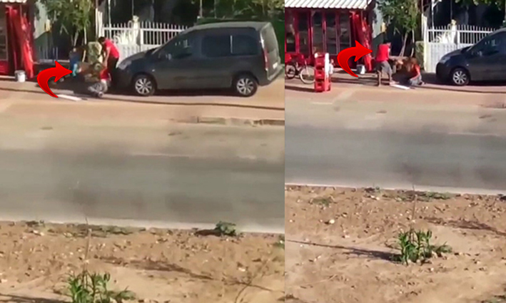 Kadına şiddet cep telefonu kamerasında