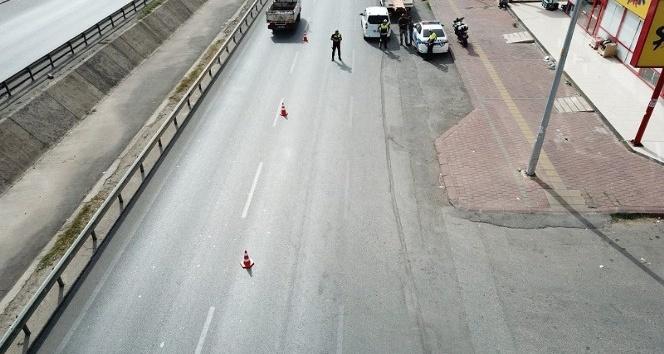 Antalya'da drone ile trafik denetimi