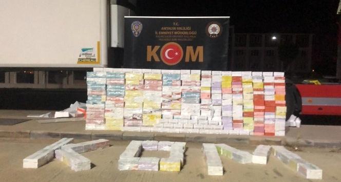 Antalya'da 900 bin liralık kaçak sigara ele geçirildi