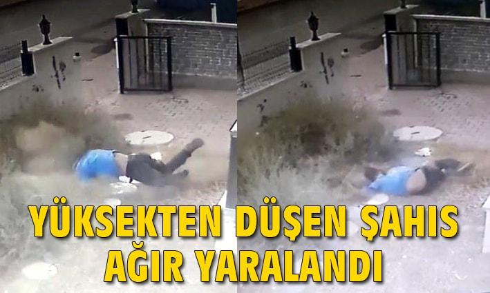 Antalya'da yüksekten düşen şahıs ağır yaralandı