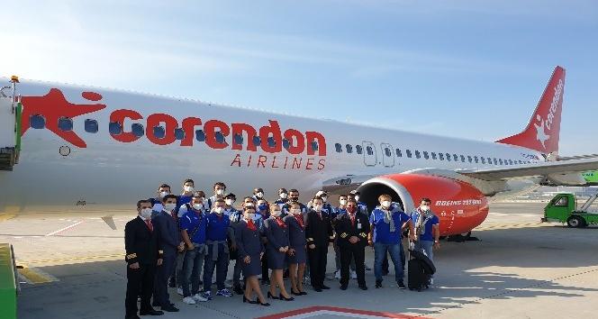 Anadolu Efes için Corendon'dan özel takım uçağı