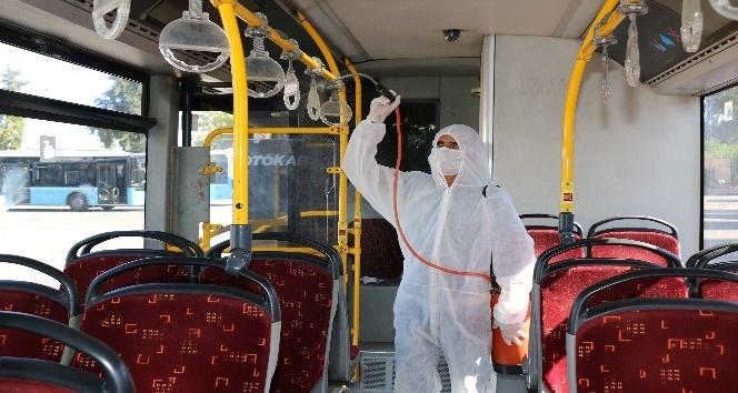 Antalya'da 550 toplu taşıma aracı dezenfekte ediliyor