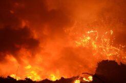 Hurda deposunda çıkan yangın korkuttu