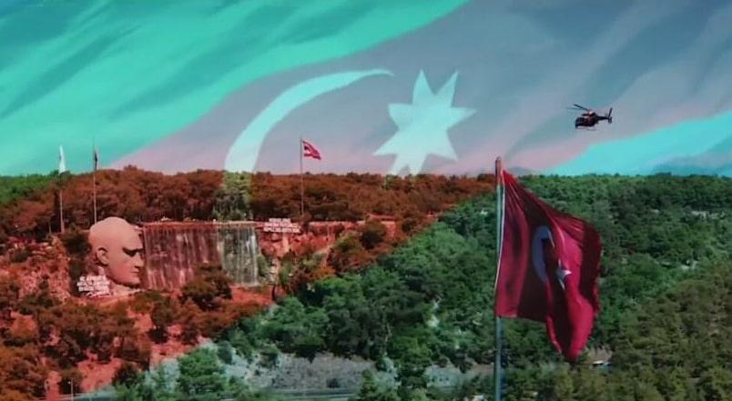 Antalya'da polisten Azerbaycan'a klipli destek