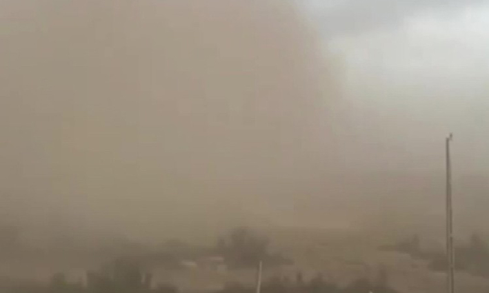 Antalya'da bölgesel toz taşınımı