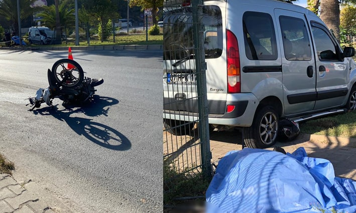 Alanya'da hafif ticari araç ile motosiklet çarpıştı: 1 ölü