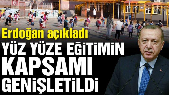 Son dakika… Kabine toplantısı sona erdi! Erdoğan'dan yüz yüze eğitim açıklaması