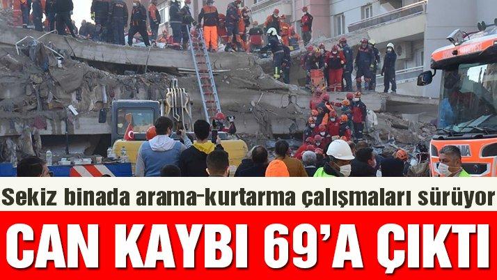 Son dakika… İzmir depreminde ölü sayısı 69'a çıktı