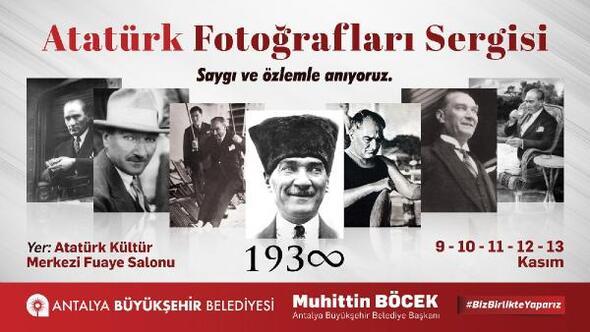Büyükşehir'den 10 Kasım Atatürk Fotoğrafları Sergisi