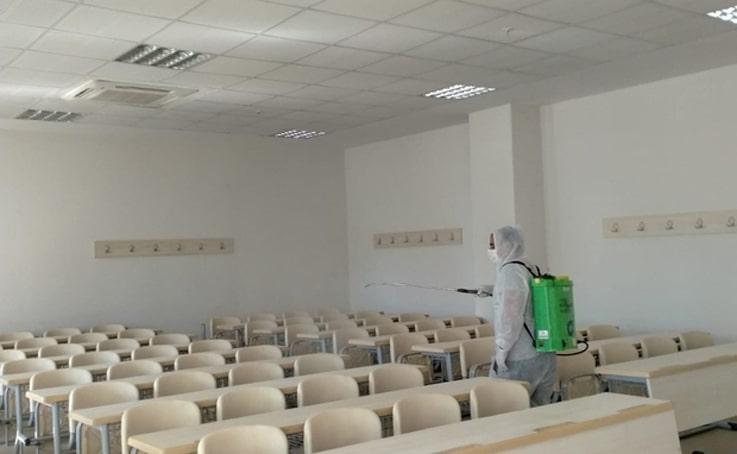 Büyükşehir EKPSS öncesi okulları dezenfekte etti
