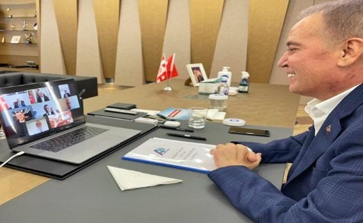 Başkan Böcek çevrimiçi düzenlenen ASBAŞ Toplantısına katıldı