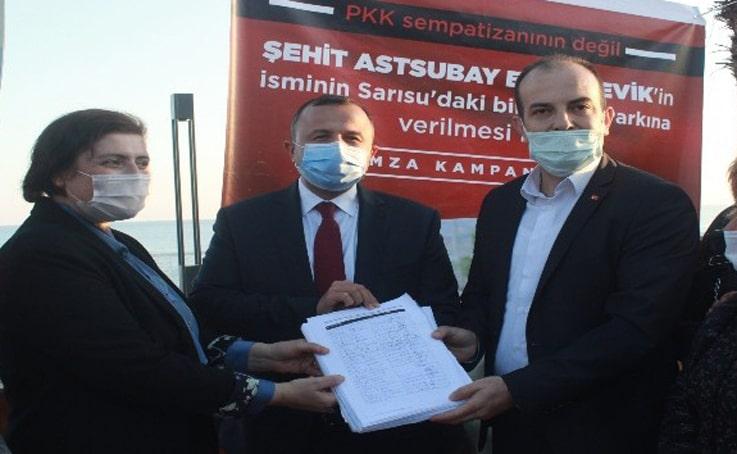 Şehit Astsubay Esma Çevik Parkı için 10 bin imza