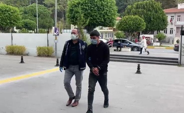Tutuklanan motosiklet hırsızına kısıtlamayı ihlal ve maske takmadığı için 4 bin 50 TL para cezası