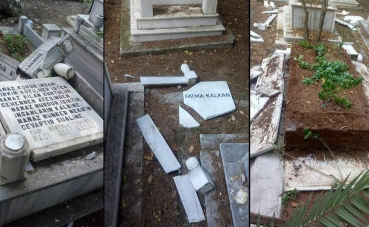 Mezarları kırıp Türk bayraklarını söktü, 'Moralim bozuktu' dedi