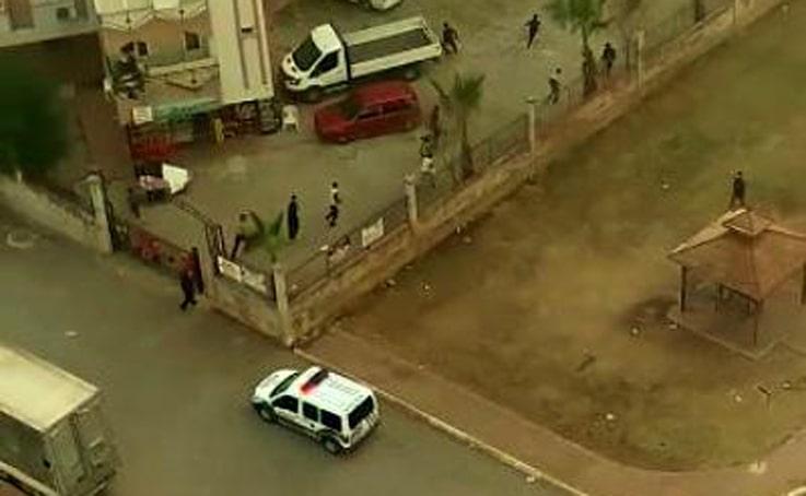 Polisi gören çocuklar çil yavrusu gibi dağıldılar