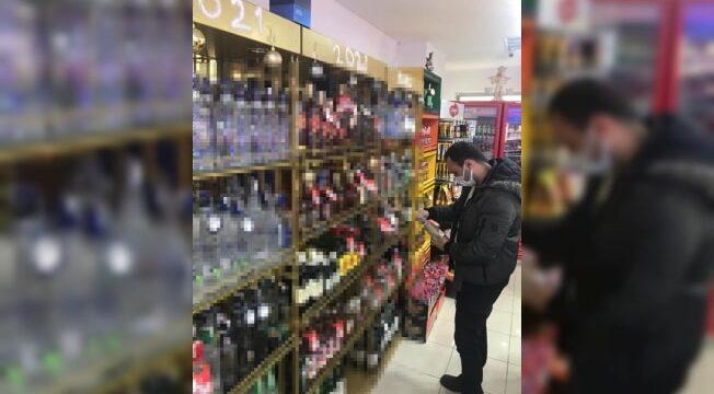 Yılbaşı öncesi alkollü içki satış yerleri denetlendi