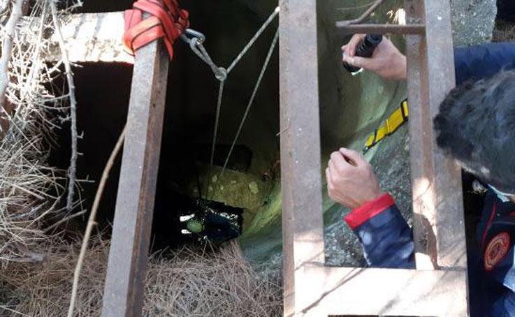 10 metre derinlikteki kuyuda mahsur kalan köpeği itfaiye kurtardı