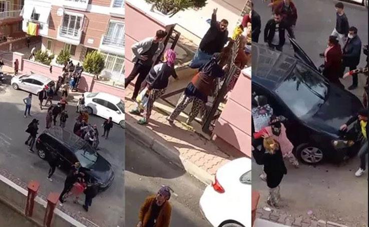 Antalya'da komşu iki aile birbirine girdi, ortalık savaş alanına döndü