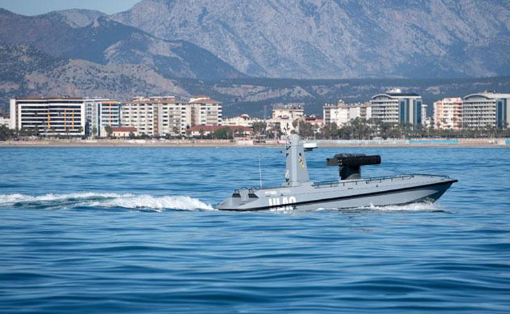 Türkiye'nin ilk silahlı insansız deniz aracı 'ULAQ' Mavi Vatan ile buluştu