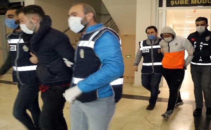 Fıskiye hırsızı kardeşler tutuklandı