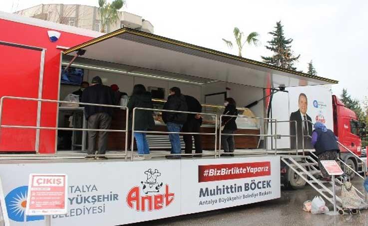 Halk Et Satış Tırından bir ayda 14 bin 396 kg et ürünü satıldı