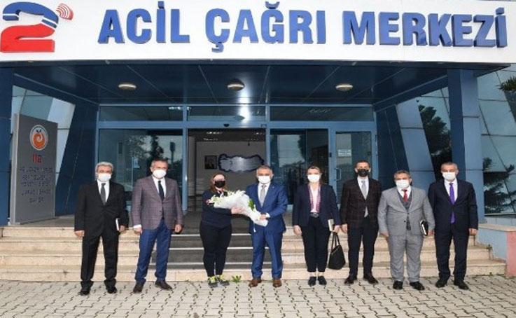 """Vali Yazıcı: """"112 hayat kurtaran bir kurum"""""""