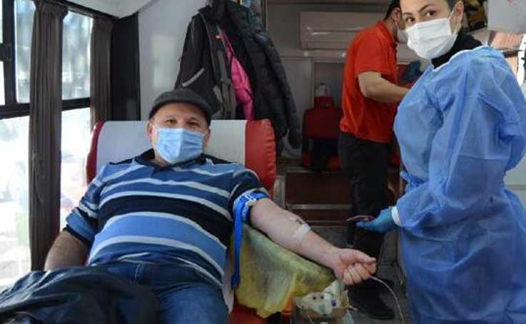 Kaş'ta kan bağış kampanyası
