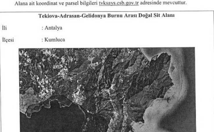 Tekirova- Adrasan- Gelidonya Burnu Arası 'nitelikli koruma alanı' ilan edildi