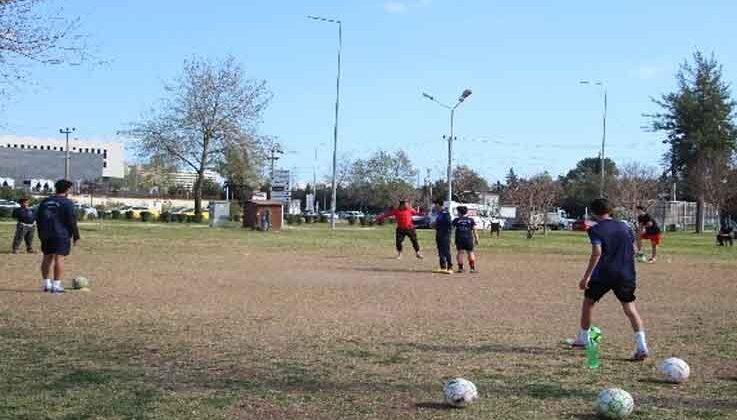 Pandemide park, antrenman sahaları oldu