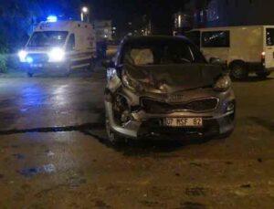 Cip ile minibüs çarpıştı: 1 yaralı