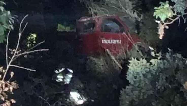Alanya'da kamyonet uçuruma yuvarlandı: 1 ölü, 4 yaralı
