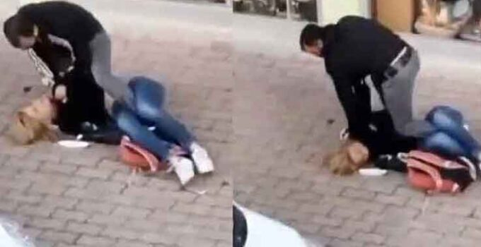 Sokak ortasında öldüresiye dayağa tutuklama