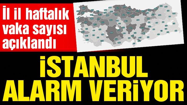 Son dakika… İl il haftalık vaka sayısı açıklandı! İstanbul'da korkutan artış