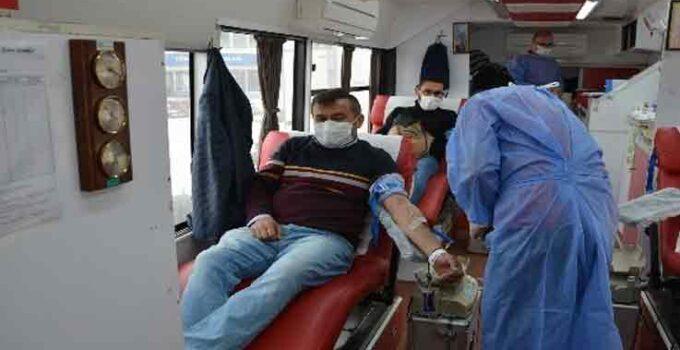 Korkuteli'nde 2 günde 167 ünite kan bağışı
