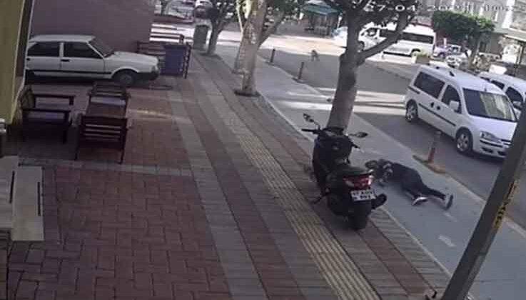 Köpeğe çarpan motosikletin sürücüsü ağır yaralandı