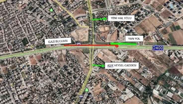 Hal Köprülü Kavşağı bakım için trafiğe kapatılacak