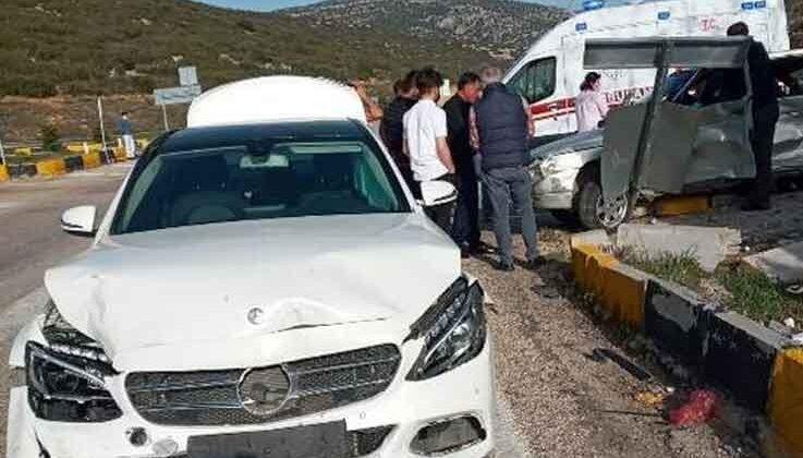 Antalya- Korkuteli karayolunda kaza: 2 yaralı