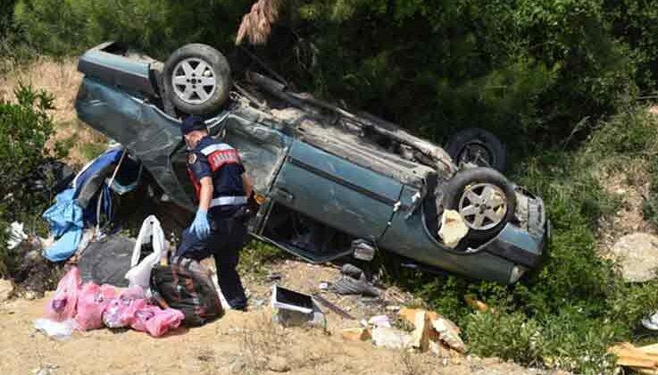 Takla atan otomobilden burnu bile kanamadan çıktı; 'Neredeyim' dedi