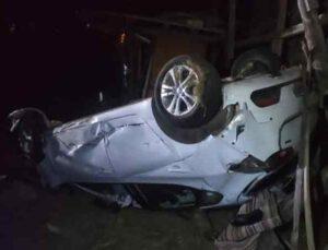 Antalya'da yoldan çıkan otomobil takla attı: 1 ölü, 2 yaralı