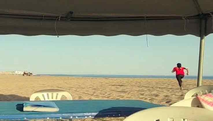Caretta carettaların yuva bölgesine giren ATV sürücülerine tepki