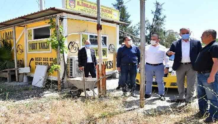 Konyaaltı'nda taksi durakları yenileniyor