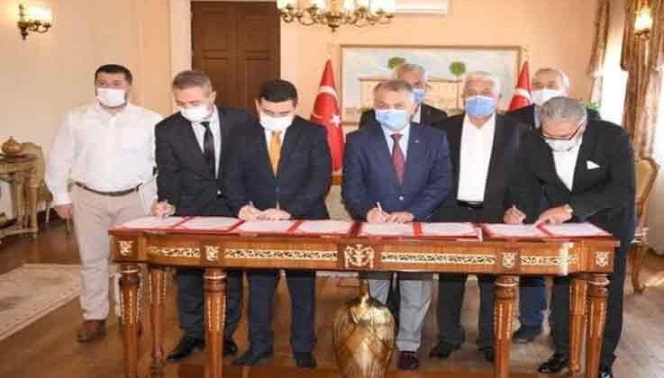 Kepez'de yapılacak olan 24 derslikli ilkokul için protokol imzalandı.