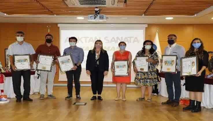 Atıktan Sanata Yarışması'nda ödüller sahiplerini buldu